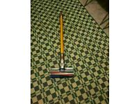 Dyson soft roller cleaner head assembly/brush and QUICK RELEASE WAND ASSEMBLY IN YELLOW