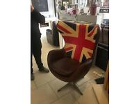 Egg chair with Union Jack
