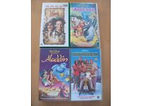 Lot of 7 Spice Girls and Family Movies VHS Video Tapes robin williams, disney, hook, aladdin, music