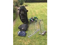 Calaway Big Bertha irons + Titelist driver, bag, wet weather clothes etc