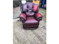 Oxblood Red Leather Single Chair