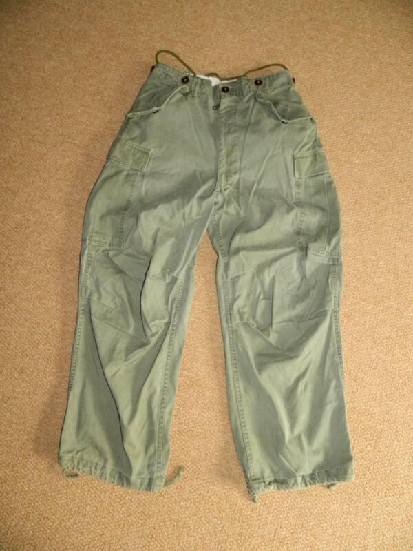 Vintage M-1951 Army Combat Pants M51 Trousers Field OD Pants Size SMALL