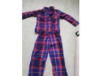 Boys Age 9-10yrs Chequered Flannelet Pyjamas