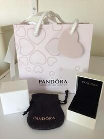 Pandora jewellery gift bag, ring boxes and pouch