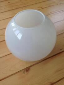 Glass round bowl vase 18cm