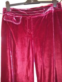 Ladies Velvet Trousers