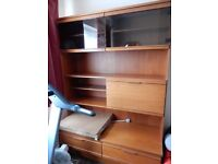 Living room / Dining room furniture - wall unit / cabinet / cupboard in light /medium wood