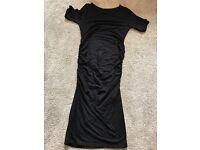 Isabella Oliver black maternity dress size 8