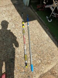 Kingfisher 3m Telescopic and unger Window Cleaning Set - Yellow price is for the 2 stick