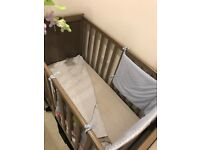 Baby cradle , mattress and 3 in 1 projector mobile