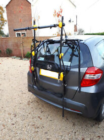 Three bike cycle car rack