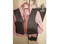 Pink & Grey John Rocher suit