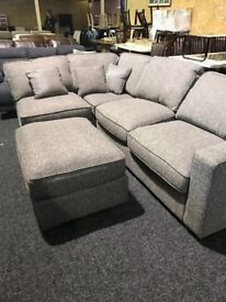 New modern corner suite and footstool
