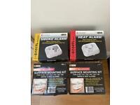 Heat and Smoke Alarm & Surface mounting Kit