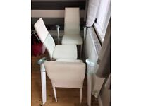 Glass Dining Table and 3 Chairs