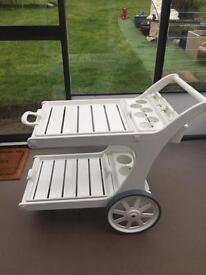 Riviera bar serving cart for swimming pools or conservatories excellent condition.