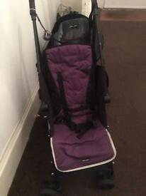 Maclaren pushchair with Hood and rain cover