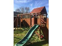 Children's wooden play frame