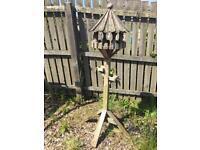 Outdoor Garden Freestanding Wooden Bird Table Feeder - SOLD