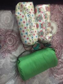Camping gear - sleeping bag and cushions