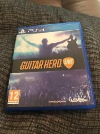PS4 Guitar Hero with Guitar
