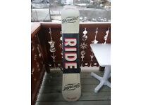 Used Ride Burnout 2016 snowboard 158cm