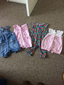 summer jumpsuit bundle sizes range from 9 mths to 18 mths