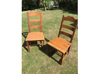 4 marks & Spencer ladder back dining chairs