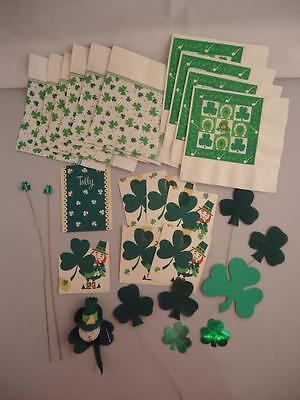 Vtg St Patrick's Day Leprechaun Hallmark Napkins Party Decorations Cards Picks](Leprechaun Decorations)