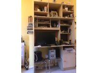 Large shelving/desk unit.