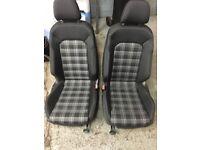 VW GOLF GTD FRONT REAR HEATED SEATS +DOOR CARDS-MK7 GTI 5 DOOR 2013-17 TRANSPORTER CADDY T5 MK6 MK5