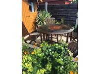 Garden set Solid Teak very good quality was £450 from bents 4 chairs