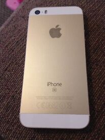 iPhone SE in gold like new