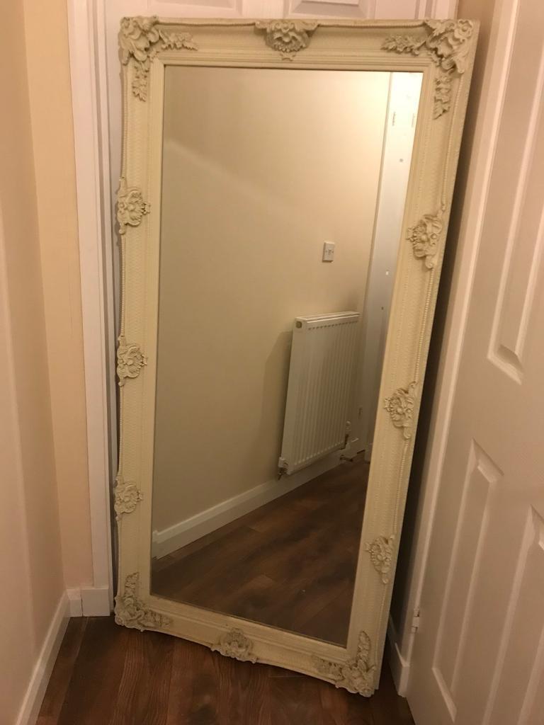 Cream French Style Full Length Mirror