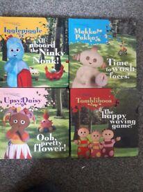 Set of 4 In the Night Garden books