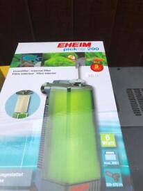 Internal filter and air pump