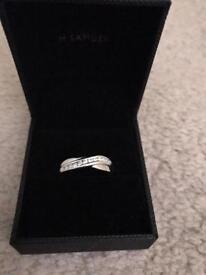 18ct White Gold Diamond Wedding Ring Size M