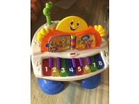 Kids toys piano, train, guitar