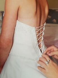 Ivory wedding dress with sequin details