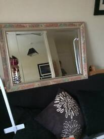 Large solid mirror, bevelled edge