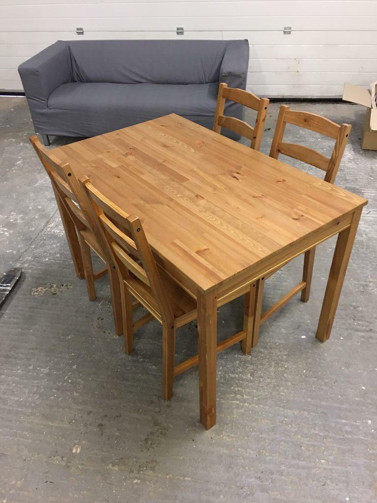 Ikea Jokkmokk Dining table and 4 chairs | in Braintree ...