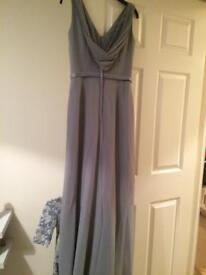 Ebony rose size 10 grey bridesmaid dress