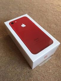 iPhone 7 Product (Red) LIMITED EDITION 128GB Unlocked, SEALED brand new and unopened. APPLE CARE 1yr