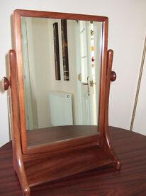 G-Plan wooden free standing, tilting adjustable position mirror