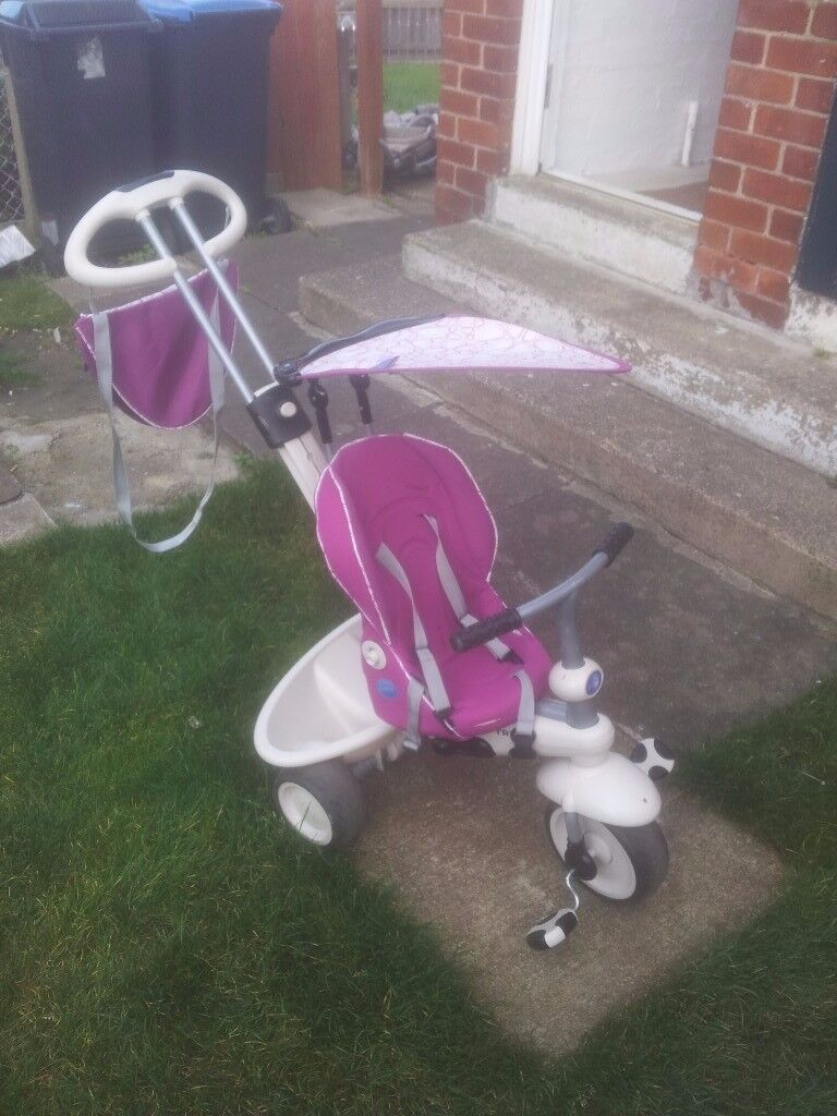 girls purple and white trike