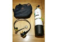 Oceanic SP-4 Oxygen reg with Alpha 7 second stage & Scubapro Gauge on a six inch hose