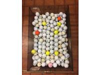 Golf balls used but idea for practice