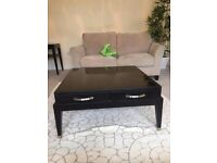 Black square coffee table