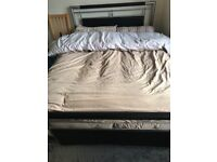 Metal Double Bed including Mattress