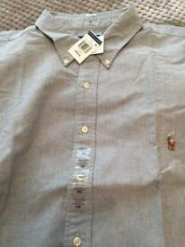 Pale Blue Ralph Lauren Short Sleeved Shirt